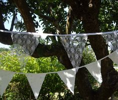 Wedding Bunting to buy or hire from Devon Bunting
