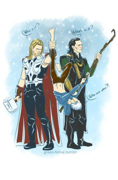 Loki and thor seem confused what jack frost is haha XD
