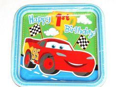 Los coches nuevos Baby's 1er Cumpleaños! 8-lunch Placas Party Supplies