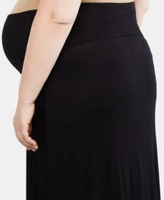 f675a06145e31 Motherhood Maternity Plus Size Maxi Skirt - Black 2X