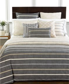 Hotel Collection Modern Colonnade Bedding Collection, 400 Thread Count 100% Pima Cotton, Only at Macy's | macys.com  Masculine bedding. Teen boy guy bedding.