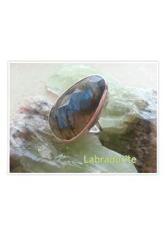 Faceted Labradorite Gemstone Ring