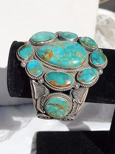 NAVAHO OLD PAWN TURQUOISE CUFF