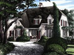 Elegant French Country Home - 32431WP | 1st Floor Master Suite, Bonus Room, Corner Lot, European, French Country, PDF | Architectural Designs