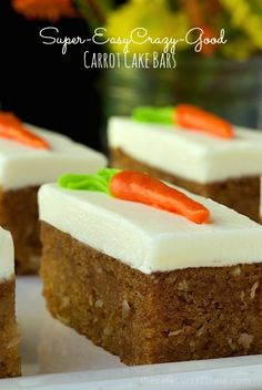 Super-Easy, Crazy-Good Carrot Cake Bars - with a secret ingredient you won't believe!
