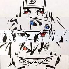 Itachi Uchiha, Minato Namikaze, Kakashi Hatake, Sasuke Uchiha and Naruto Uzumaki Naruto Kakashi, Anime Naruto, Naruto Eyes, Madara Uchiha, Naruto Shippuden Anime, Naruto Nails, Konoha Naruto, Naruhina, Naruto Images