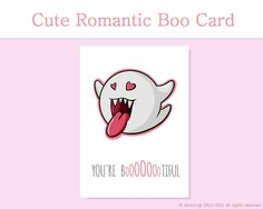 print your own geeky love card to give to your loved one youre bootiful cute printable card cheap digital file instant download etsy shop cute cards