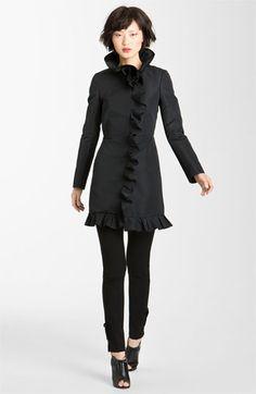 Ruffle front coat (Theatrical Romantic Kibbe type)
