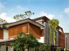 Modern Tropical House, Tropical House Design, Simple House Design, House Front Design, Modern House Design, Tropical Architecture, Residential Architecture, Modern Architecture, Villa Design