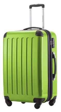 Hartschalen-Koffer-Apfelgruen-4x360-Rollen-Hochglanz-Koffer