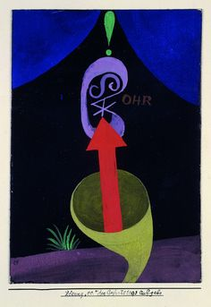 """Paul Klee, Solution """"ee."""" for the Birthday Task, from the portfolio for Walter Gropius, 1924."""