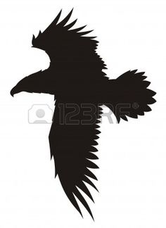 Abstract vector illustration of flying eagle Stock Vector - 3819709