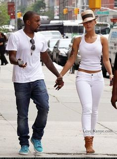 Amber Rose, american model and socialite All White Outfit, White Outfits, Sexy Outfits, Summer Outfits, Casual Outfits, Fashion Outfits, Womens Fashion, Kanye And Amber Rose, Amber Rose Style