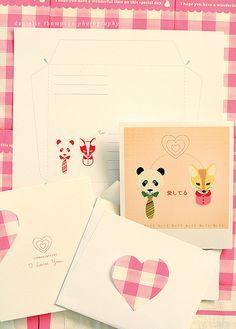 Valentines Card and Envelope freebie download