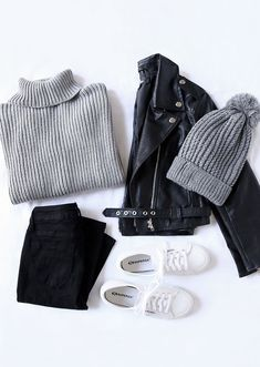 Rhythm Snowflake Grey Turtleneck Sweater Rhythm Snowflake Grauer Rollkragenpullover The post Rhythm Snowflake Grauer Rollkragenpullover & Look appeared first on Mode pour les femmes . Best Casual Outfits, Classy Outfits, Winter Outfits, Cute Outfits, Work Outfits, Summer Outfits, Shop This Look Outfits, Black Outfits, Evening Outfits