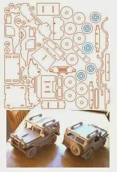 - Jeep Utilitário brinquedo corte a laser Laser Cutter Projects, Cnc Projects, Wooden Crafts, Diy And Crafts, Paper Crafts, 3d Laser, Laser Cut Wood, 3d Puzzel, Auto Jeep