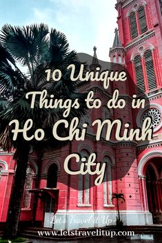 Ho Chi Minh City in Vietnam was previously known as Saigon. It's a wonderful place filled with so much history. Here are our travel tips for you. 10 unique things to do in Ho Chi Minh City Vietnam. Travel Advise, Travel Tips, Stuff To Do, Things To Do, Drink Specials, Once In A Lifetime, Ho Chi Minh City, Vietnam Travel, Buy Tickets