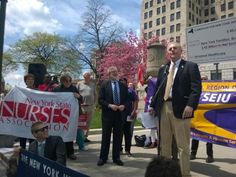 Darius Shahinfar, Albany City Treasurer, makes the fiscal case for the NY Health Act.  Credit: PNHP NY-Metro
