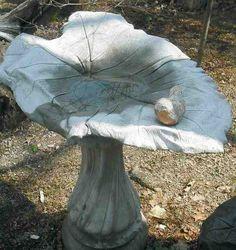 Bird bath bowl concrete mold