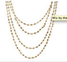 Mix by the 2 yards in Labradorite Necklace via grazielagems.com