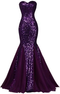 Sequin Long Sparkly Dark Salmon Purple Evening Dress