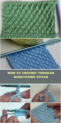 How to Crochet The Tunisian Honeycomb Stitch [Free Pattern and Video Tutorial]