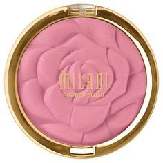 Milani Rose Powder Blush.  Amazing drugstore blush with the best packaging! EverydayStarlet.com @sarahblodgett (affiliate)