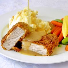 Chicken Fried Pork Chops- a fantastic quick and easy winter comfort food meal. Don't forget the mashed potatoes, gravy and steamed veggies.