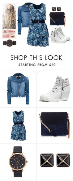 """Light Blue"" by teodoramaria98 ❤ liked on Polyvore featuring MANGO, GET LOST, New Look, Marc Jacobs and Kenneth Jay Lane"