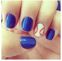 Like the baseball... the other nails need to be Orange & Black!!