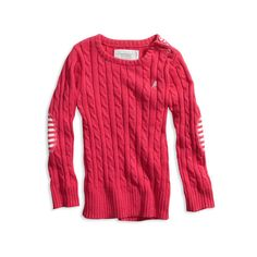 pretty cable sweater (245 SEK) ❤ liked on Polyvore featuring sweaters, tops, 77 toddler girls and baby