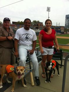 LHS @ Newark Bears Game! 9/19/2012 - Ines w/Manny and Luigi!