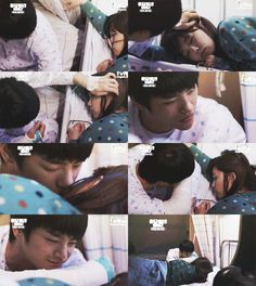 I thought this was so cute/creepy. Cute because he really showed how much she meant to him. Creepy because it's a dude staring/kissing you as you sleep lmao - Reply 1997 Answer Me 1997, Reply 1997, Drama Fever, Seo In Guk, School Reunion, Korean Dramas, Kiss You, Kdrama, Creepy