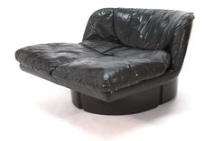 Large Fiberglass and Leather Lounge Chair by Comfort of Italy