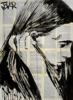 "Saatchi Online Artist Loui Jover; Drawing, ""alone"" #art"