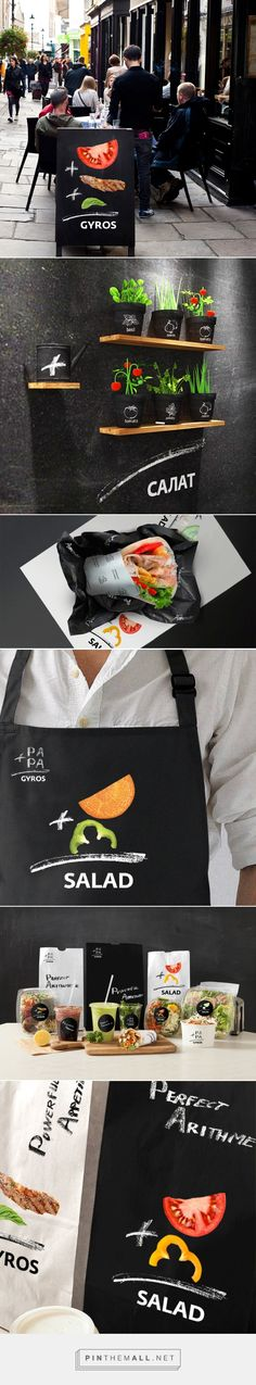 Packaging, branding and visual identity for PAPA GYROS by Maeutica curated by Packaging Diva PD. Brand new visual concept, featuring images of fresh products and illustrating the idea of the healthy formula, was able to completely change the perception of PaPa Gyros brand.