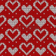 Red knitted background with hearts. Red knitted background with hearts. Stock Photo Record of Knitting String rotating, weaving and sti. Knitting Charts, Knitting Socks, Knitting Stitches, Loom Knitting, Fair Isle Chart, Fair Isle Pattern, Stitch Patterns, Knitting Patterns, Fair Isle Knitting