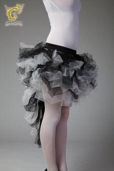 Crazy Chick Long Tail Burlesque Tutu Skirt