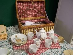 Peter Rabbit tea set basket