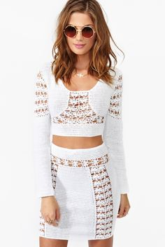 Dawn Crochet Crop Top in Clothes Tops at Nasty Gal