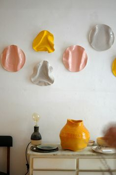 ceramic lamp at Caulino Ceramic, studio near Alfama neighborhood – via frolic-b … – Ceramic Ceramic Wall Art, Ceramic Clay, Tile Art, Ceramic Plates, Ceramic Pottery, Ceramics Projects, Clay Projects, Keramik Design, Keramik Vase