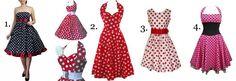 vestidos anos 60 de bolinha