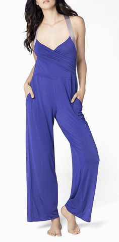 Ladies Purple Romper <3.. I want this to sleep in. It looks comfy