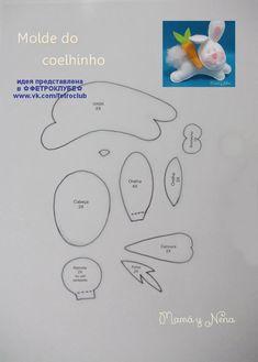 Coelhinho com molde