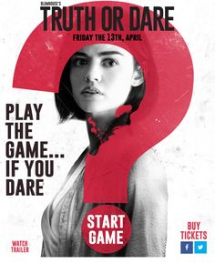 Truth or Dare FULL MOVIE - 2018 Online Streaming HD Free 2018 Movies, New Movies, Movies To Watch, Movies Online, Movies And Tv Shows, Movies Free, Tyler Posey, Lucy Hale, Truth Or Dare Online