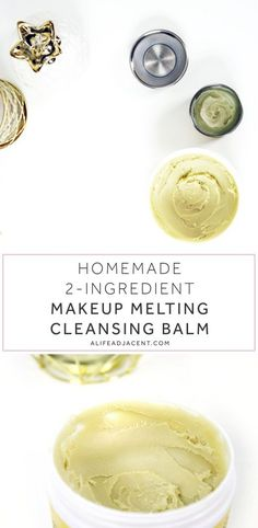 Natural Skin Care, Makeup Melting Cleansing Balm, Homemade Makeup Remover, DIY, Do it Yourself, Natural, Makeup Remover, Paleo, Homemade Cleanser, Double Cleansing, Double Cleanse, Korean Beauty, Coconut Oil, Shea Butter, Homemade Beauty Recipes, Personal Care, Paleo, Saturated Fat, Pineapple, Inexpensive, Face, Facial, Skincare, Recipe