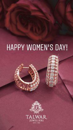 Nice pair of earrings in Rose gold - Gold Jewelry Indian Wedding Jewelry, Indian Jewelry, Diamond Bracelets, Diamond Jewelry, Rose Gold Jewelry, Bangles, Small Earrings, Gold Earrings, Jewelery