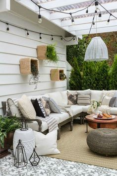 Cozy outdoor living | String lighting outdoors