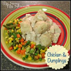 Homemade Chicken & Dumplings #Recipe