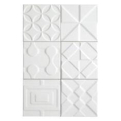 Heritage Meringue Deco Ceramic Tile - 6in. x 6in. - 100253525 | Floor and Decor